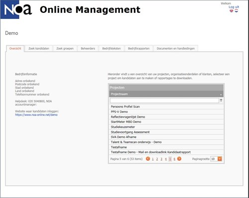 NOA online management